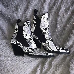 Zara Snakeskin Pointed Toe Cowboy Boots